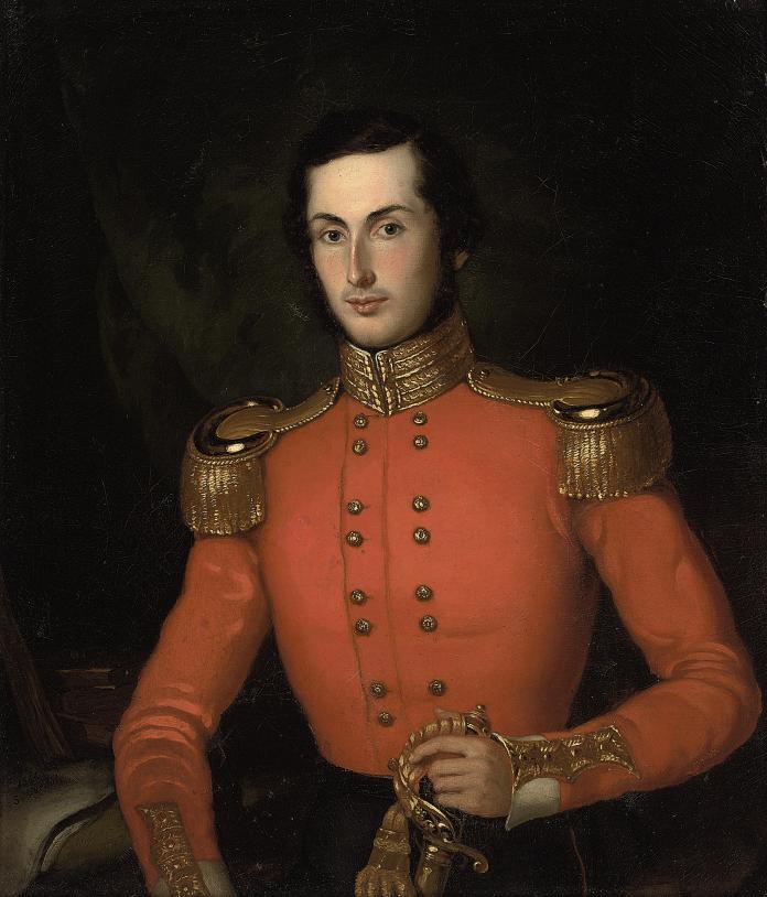 Portrait of Robert Wigström, half-length, in the uniform of an infantry regiment