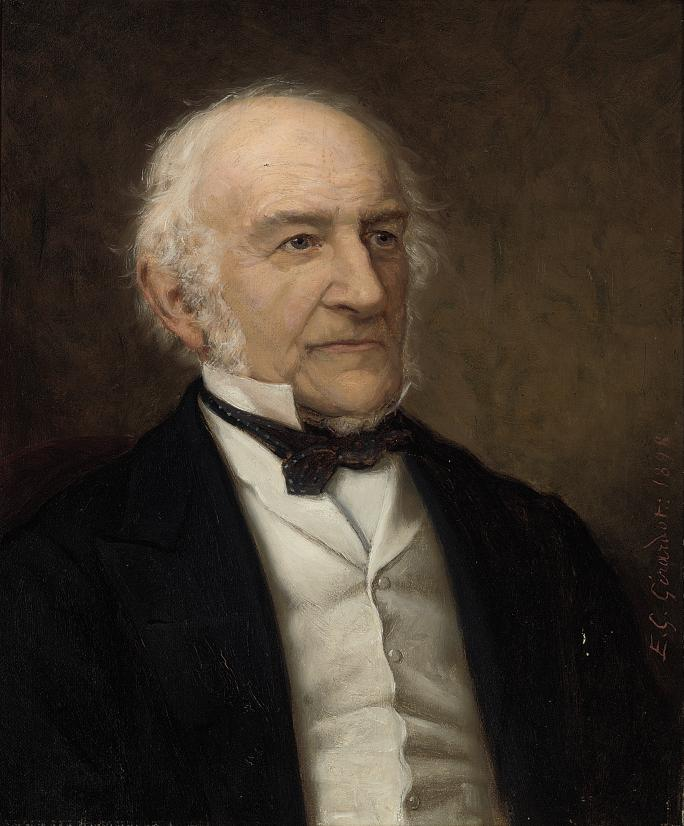 Portrait of William Ewart Gladstone (1809-1898), bust-length