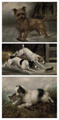 A fearless hunter; and Five further dog portraits
