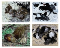 Red-legged partridge; and Studies of Pheasant, Grey partridge and Black grouse