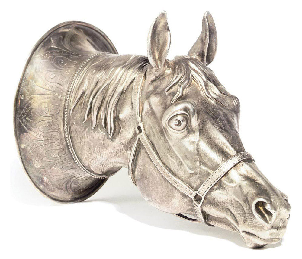 A German cast silver stirrup c