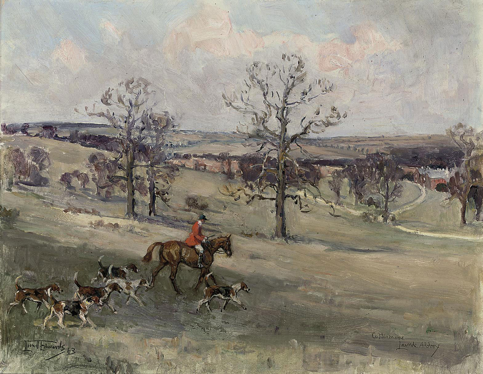 The Cottesmore Hunt, Launde Abbey