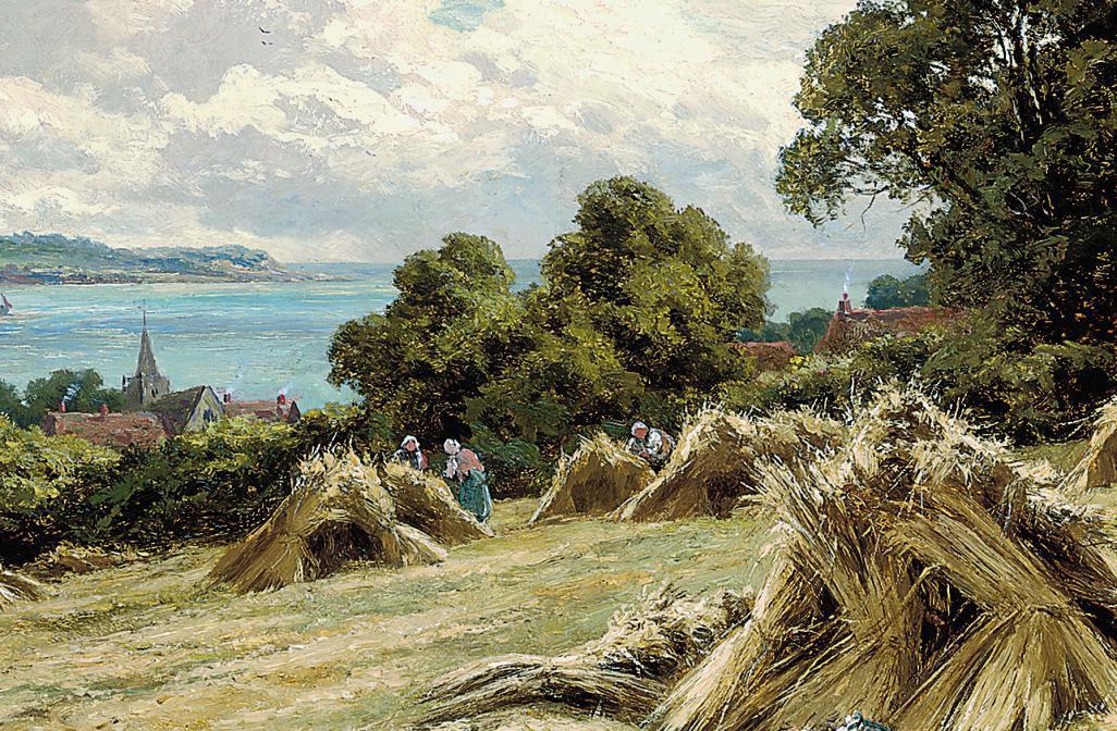 Harvesting on the Sussex coast