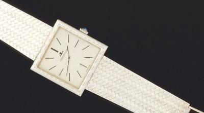 An 18ct. white gold wristwatch