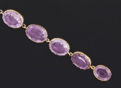 A Victorian amethyst bracelet