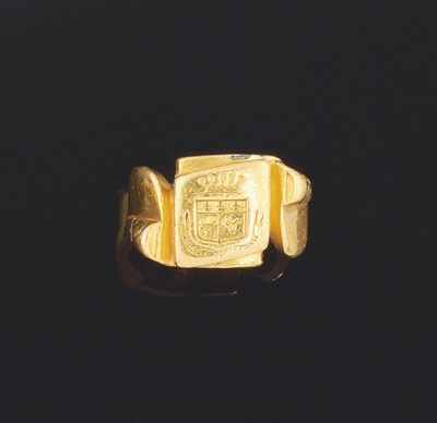 A late 19th century gold signe