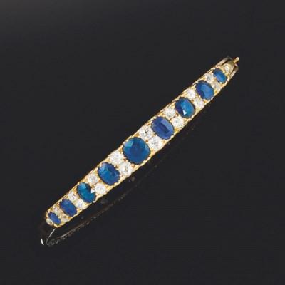 A 19th century gold, sapphire