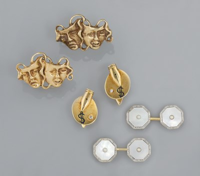 Four pairs of cufflinks