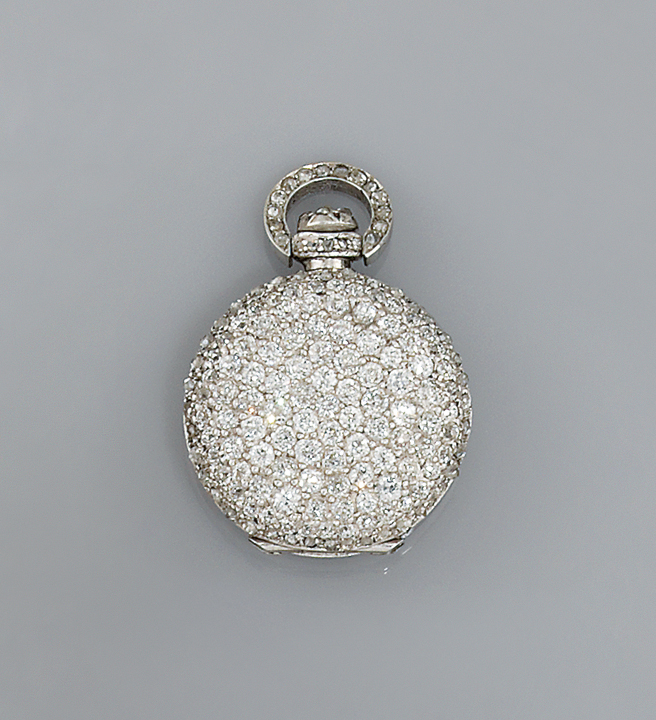 An early 20th century gold and diamond pocket watch, by Bulova