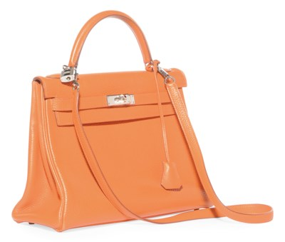 AN ORANGE TOGO 'KELLY' BAG
