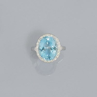 An aquarmarine and diamond clu