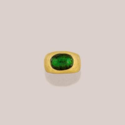 A single-stone tourmaline ring