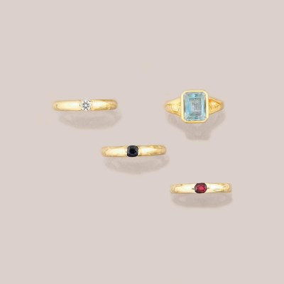 A topaz ring, by Bulgari and t