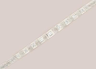 A diamond set line bracelet