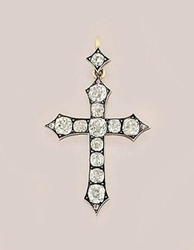 A 19th century diamond cross p