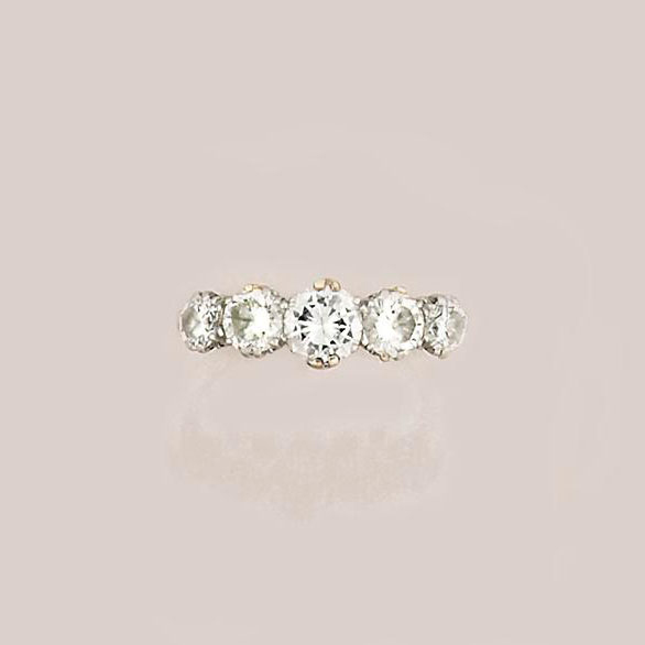 A five-stone diamond ring