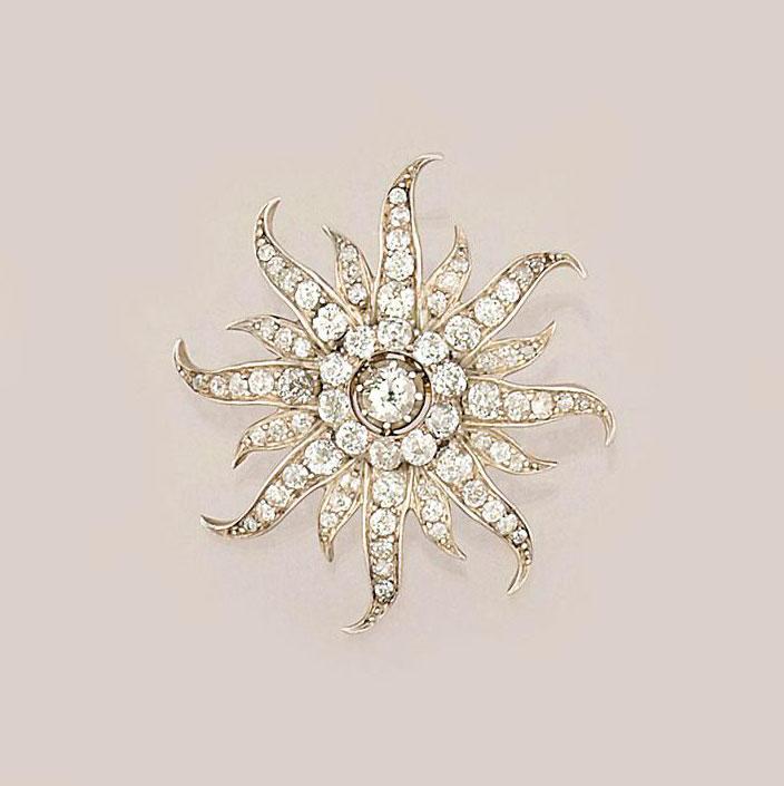 A Victorian, diamond brooch