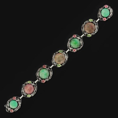 An Arts & Crafts, jadeite jade