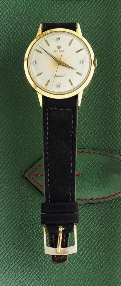 A diamond-set wristwatch, by R
