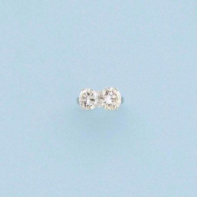 A diamond two-stone ring, by D