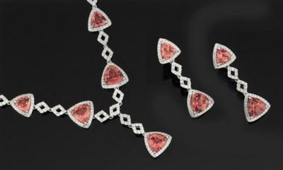 A diamond and pink tourmaline