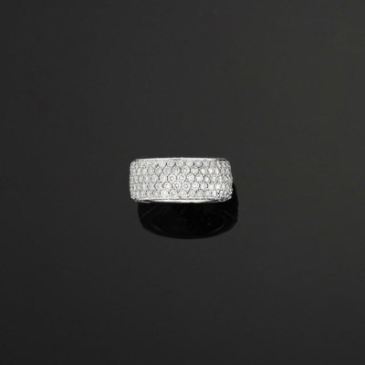 A diamond band ring