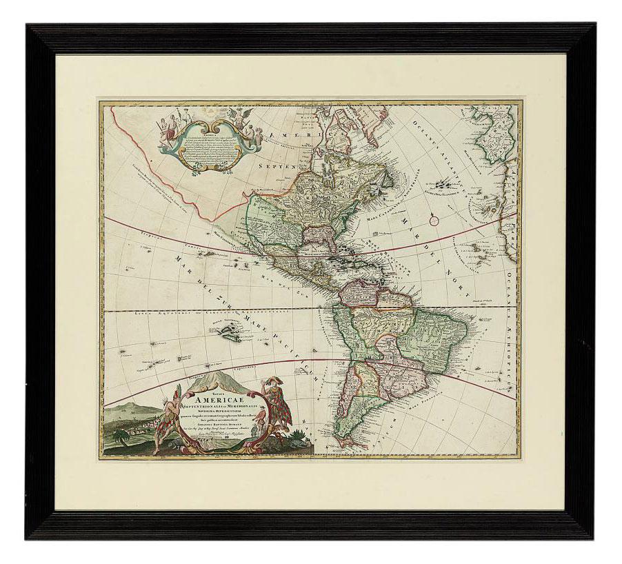 The Four Continents: Totius Americae Septentrion Alis et Meridionalis; Asiae Recentissima Delineatio; Totius Africae Nova Repraesentatio; and Europa Christiani Orbis Domina