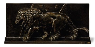 A FRENCH BRONZE RELIEF PLAQUE