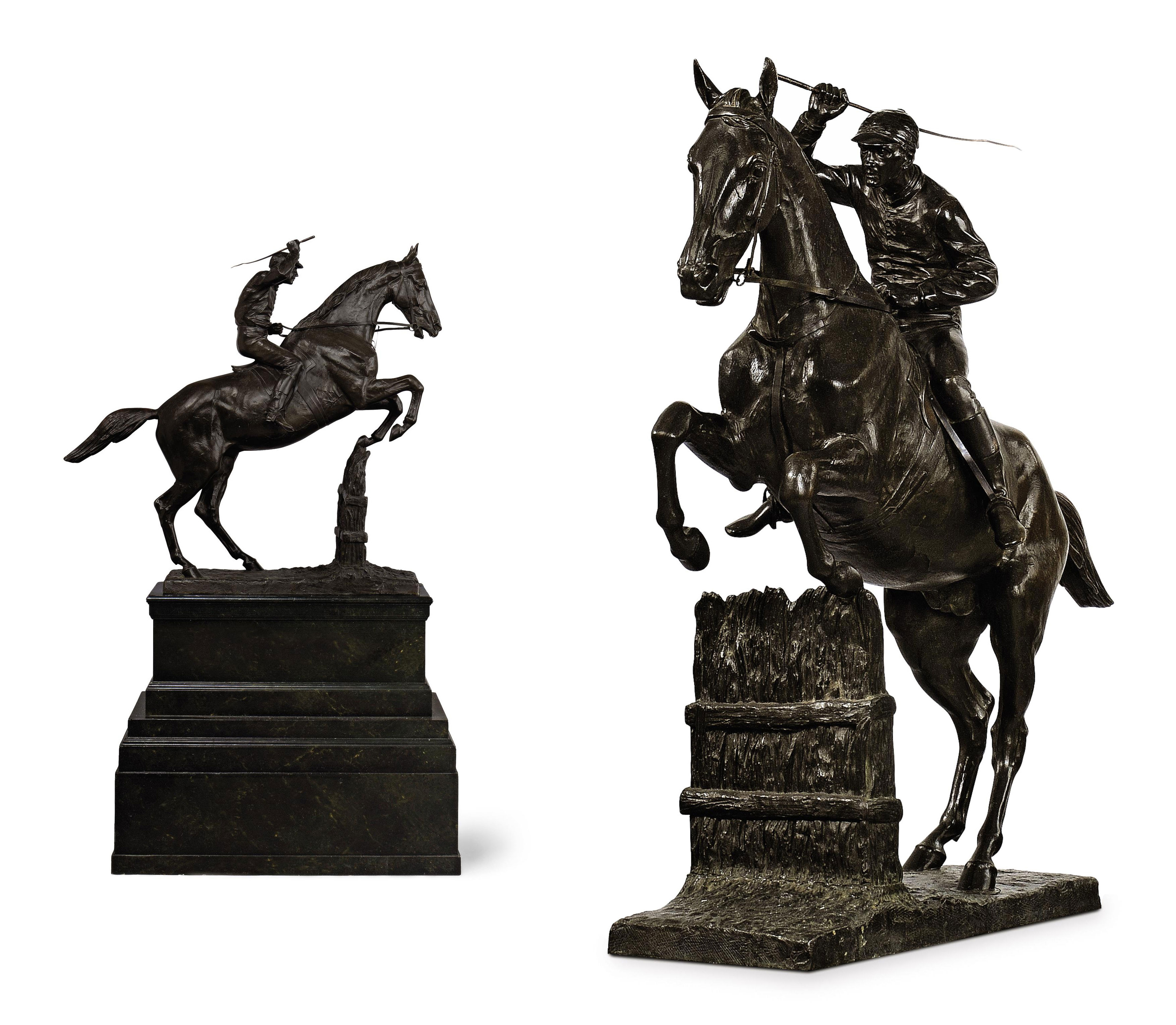 A FRENCH BRONZE MODEL OF A STE