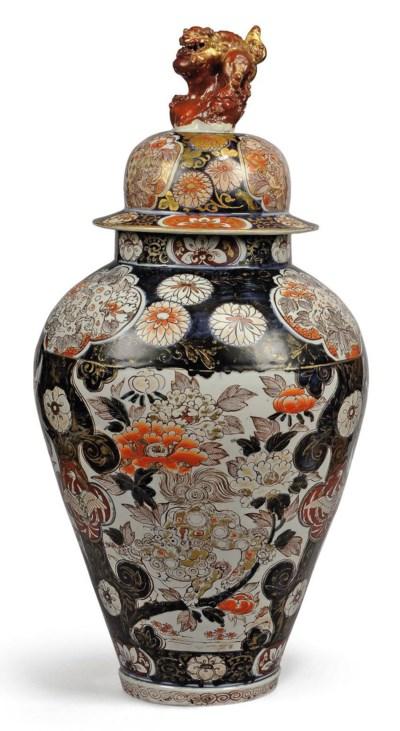 A JAPANESE IMARI BALUSTER JAR