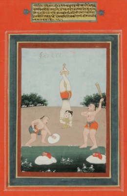FOUR INDIAN PAINTINGS