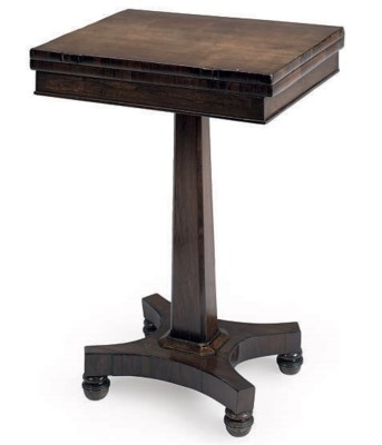 A WILLIAM IV ROSEWOOD SYCAMORE