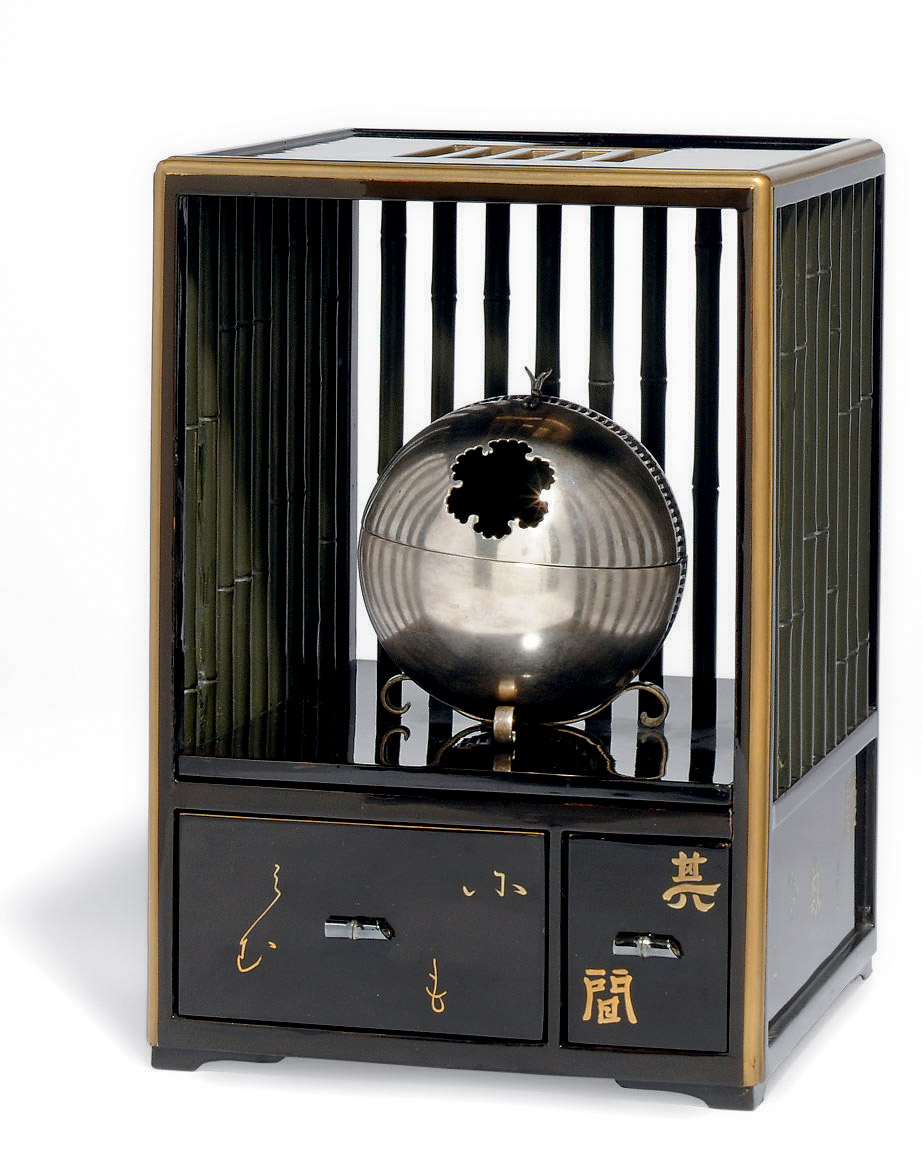 A JAPANESE SILVERED METAL KORO