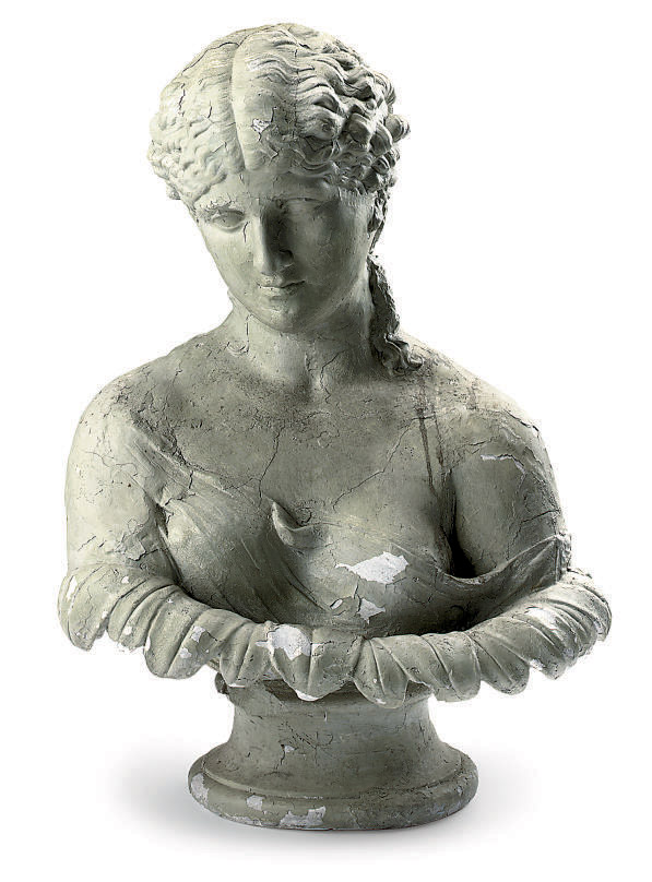 A VICTORIAN PLASTER BUST OF CL