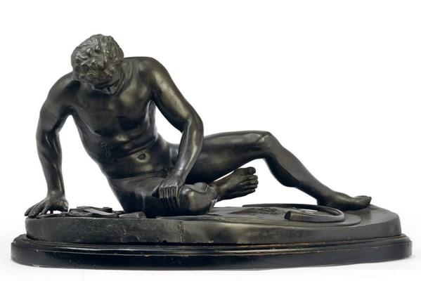 AN ITALIAN BRONZE MODEL OF THE