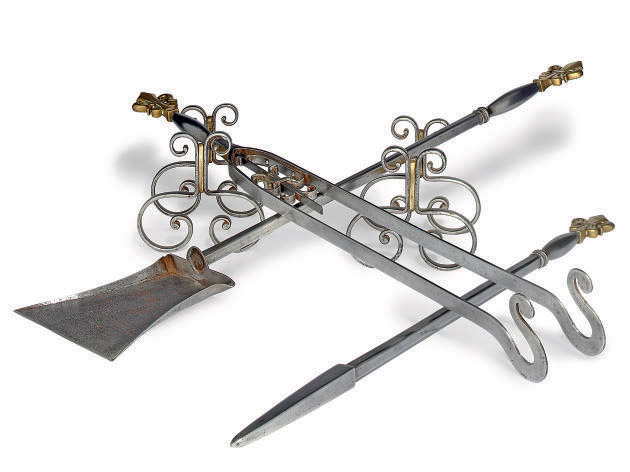 A SET OF THREE FRENCH STEEL AN