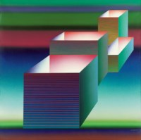 Abstract composition with cubes