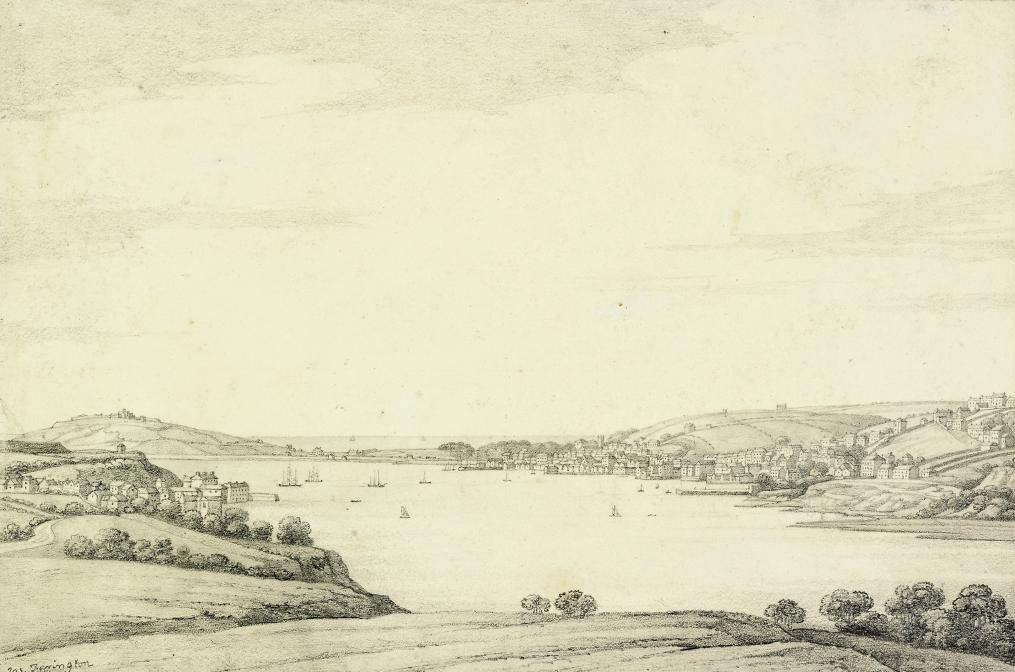 Two views of Falmouth, one seen from the south (one illustrated)