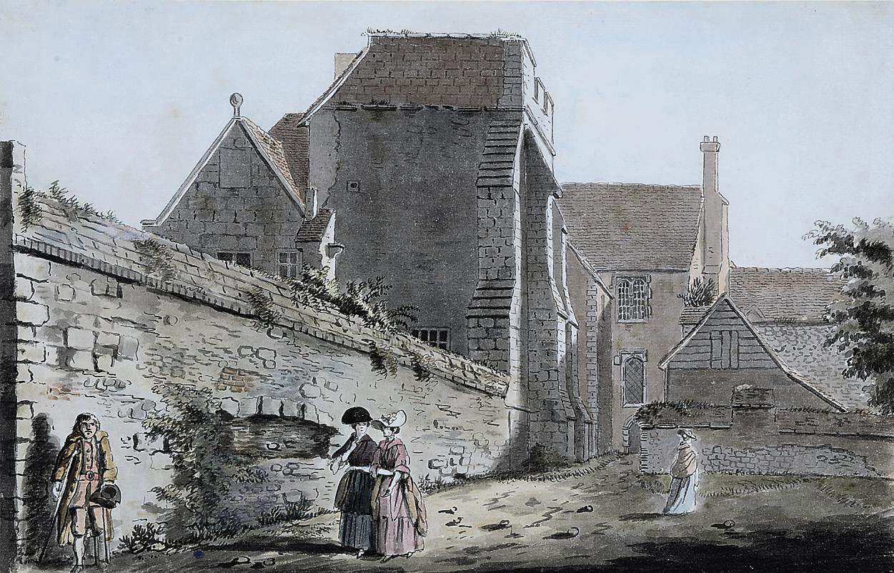 Three East-Anglian views: The Chapel of Maudlin Hospital, Colchester; Landguard Fort, Felixstowe; and The Archbishop's Hall, Canterbury (illustrated)