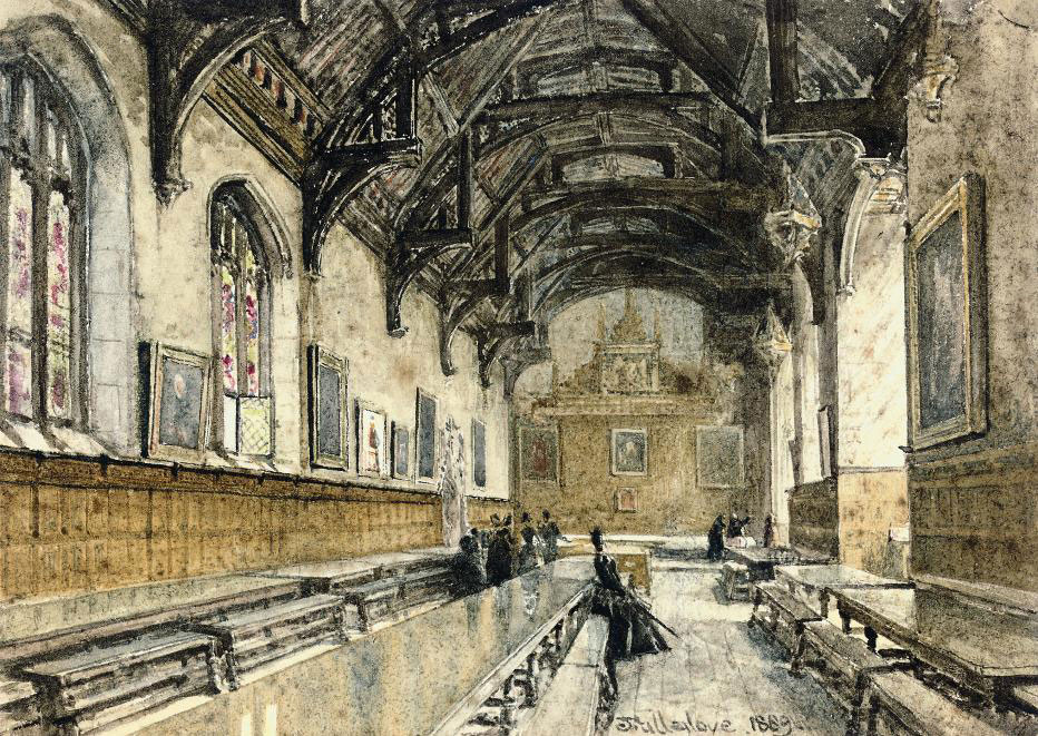 The Hall of St. John's College, Cambridge (illustrated); and The Hall of Trinity College, Cambridge
