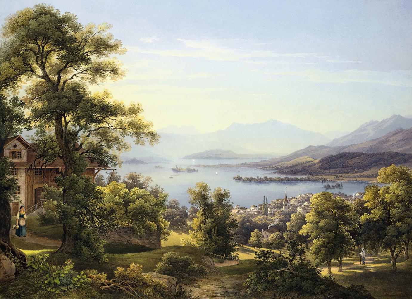 View of Horgen on the Lake of Zürich, Switzerland