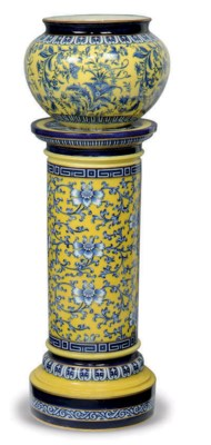 A MINTON JARDINIERE AND STAND