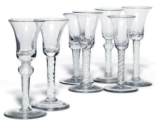 SEVEN OPAQUE-TWIST DRINKING GL