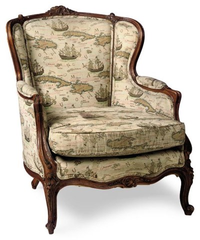 A CARVED BEECH BERGERE