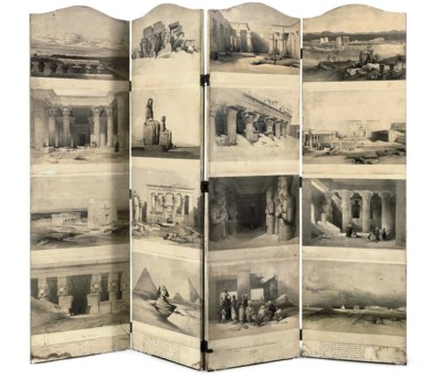 A Four-Panel Folding Screen