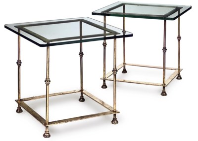 A PAIR OF GILT-LACQUERED STEEL