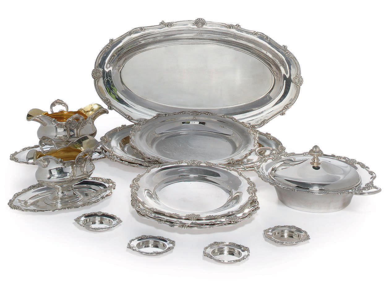 A GERMAN SILVER DINNER SERVICE