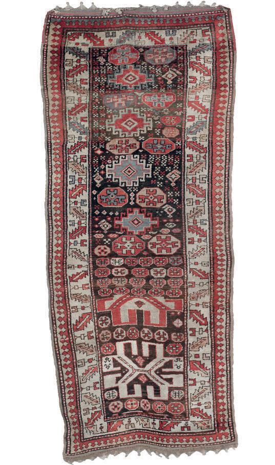 A unusual antique South Caucasian rug