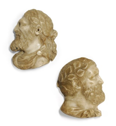 A PAIR OF ITALIAN MARBLE RELIE