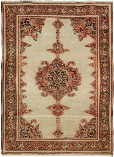 A fine antique Malayir rug